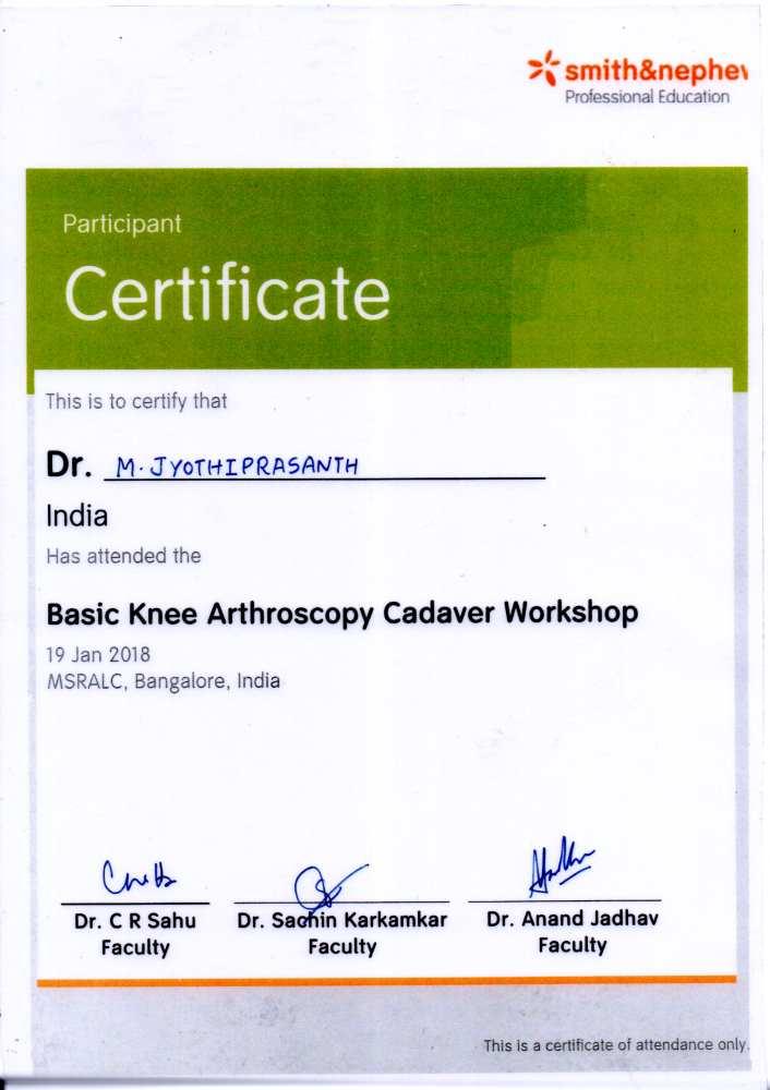 Dr  Jyothiprasanth – Orthopaedic Surgeon – Online portal of Dr