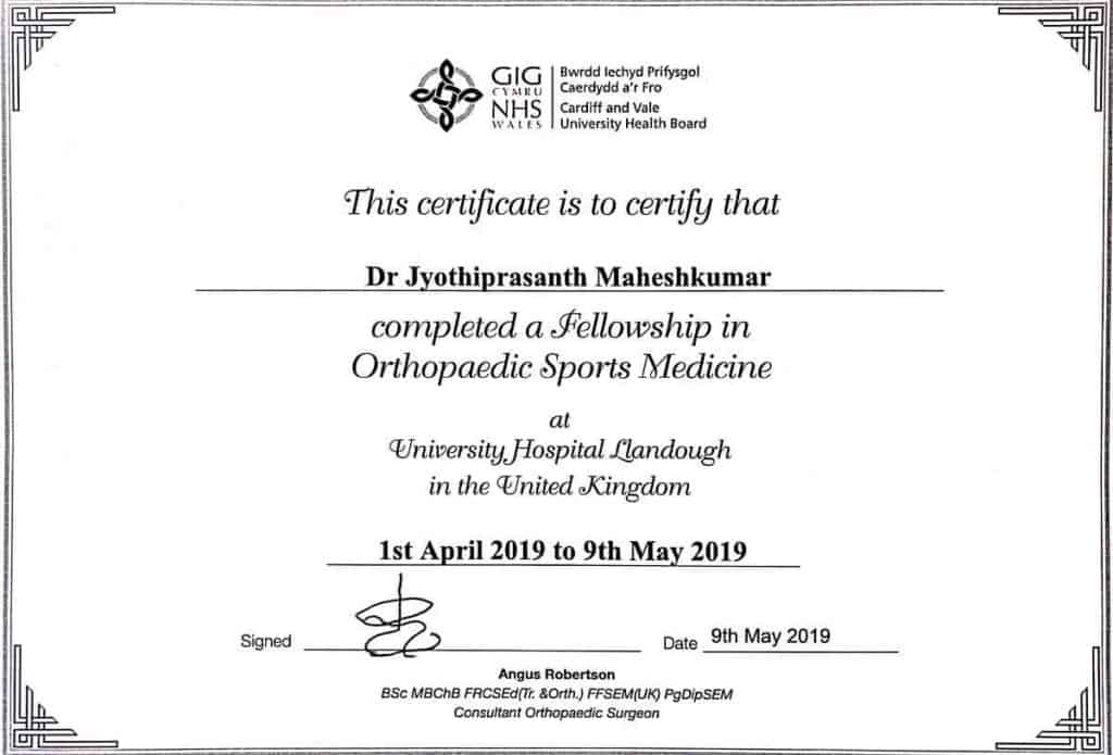 Dr  Jyothiprasanth – Orthopaedic Surgeon – Online portal of